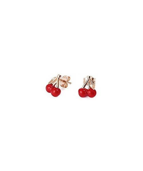 ROSATO earrings in the shape of a pair of cherries. RZO012.