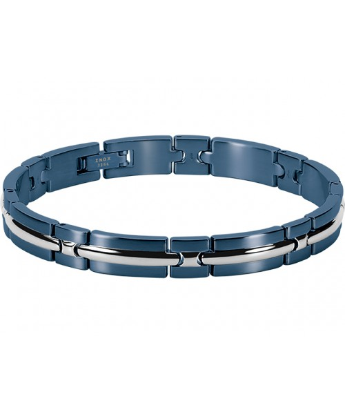 ROCHET bracelet for men. TRINIDAD. Steel. PVD blue.