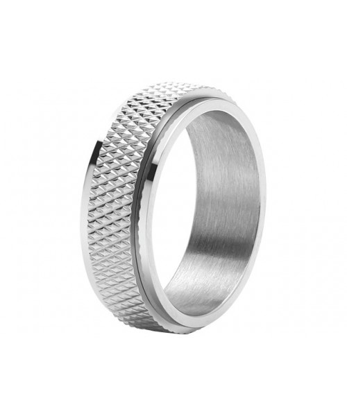 ROCHET ring for men. DRIVER . Steel.