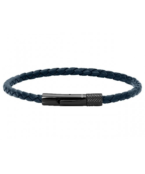 ROCHET bracelet for men. DRIVER. Blue leather.