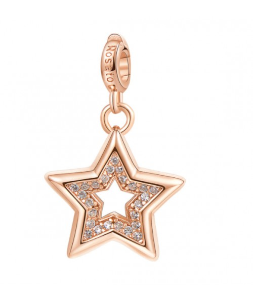ROSATO Star-shaped charm. Silver.