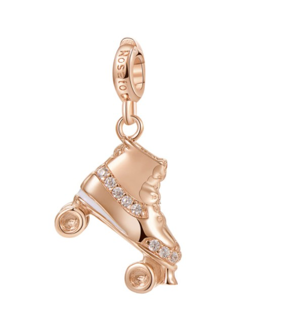 ROSATO charm in the shape of a Skate shoe. Silver.