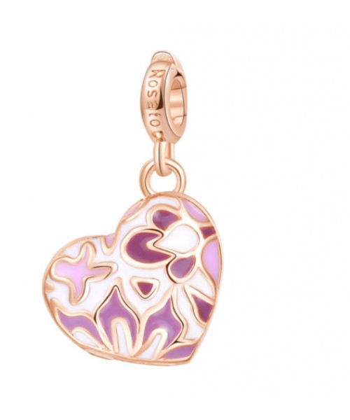 ROSATO charm . Heart with secret. Silver. RZ058.