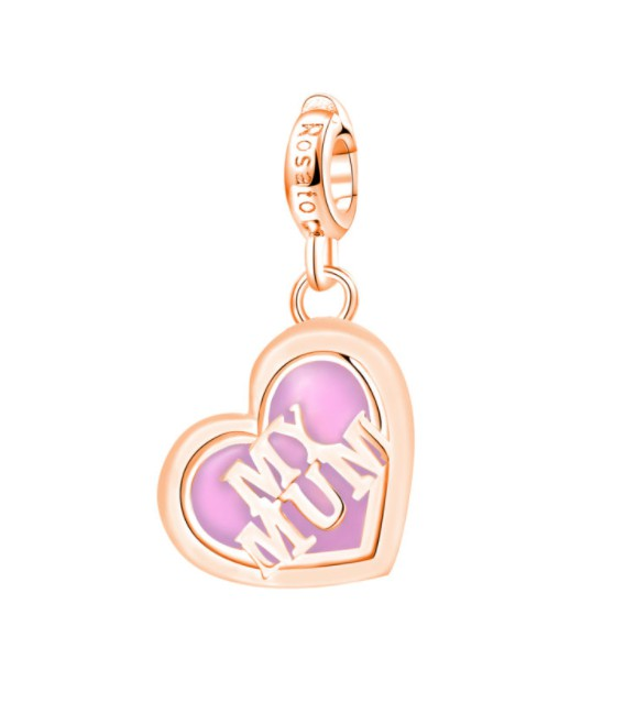 ROSATO heart-shaped charm My MUM. Silver. RZ059.