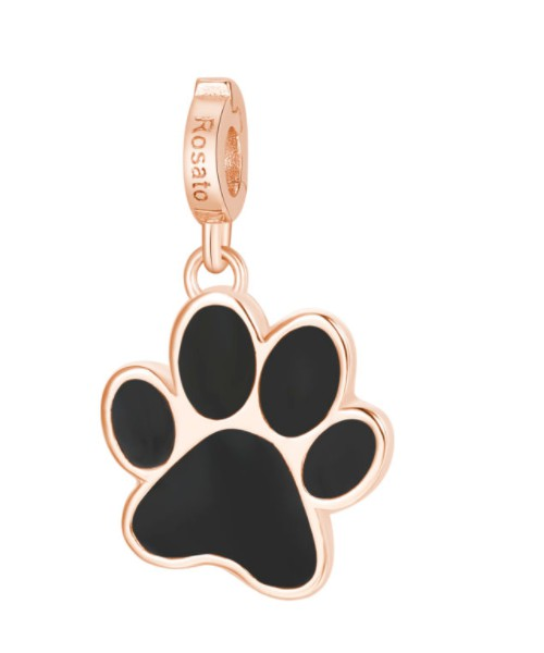 ROSATO charm. Dog footprint. Silver. RZ121.