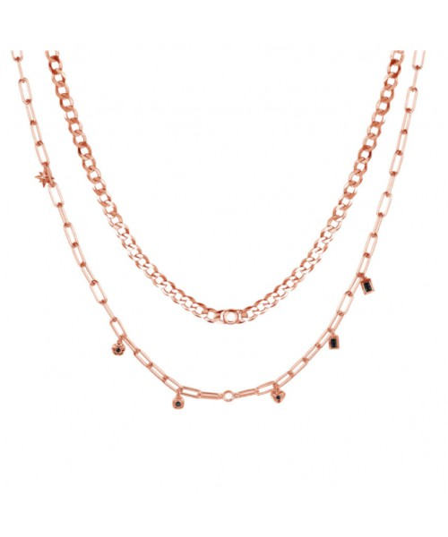 ROSATO double chain necklace. RZC022.