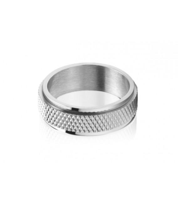 ROCHET ring for men. DRIVER . Steel.