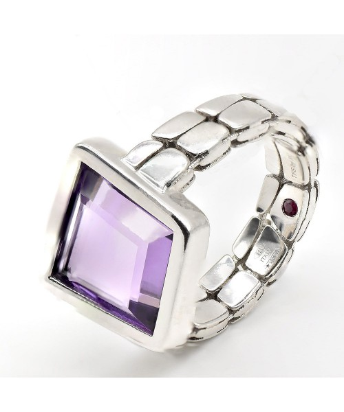 The Fifth Season by Roberto Coin. Silver ring with amethyst.