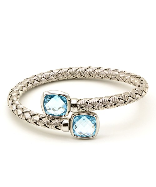 The Fifth Season by Roberto Coin. Brazalete de plata con topacio azul