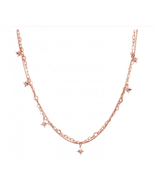 Elegant double chain necklace ROSATO . RZC020.